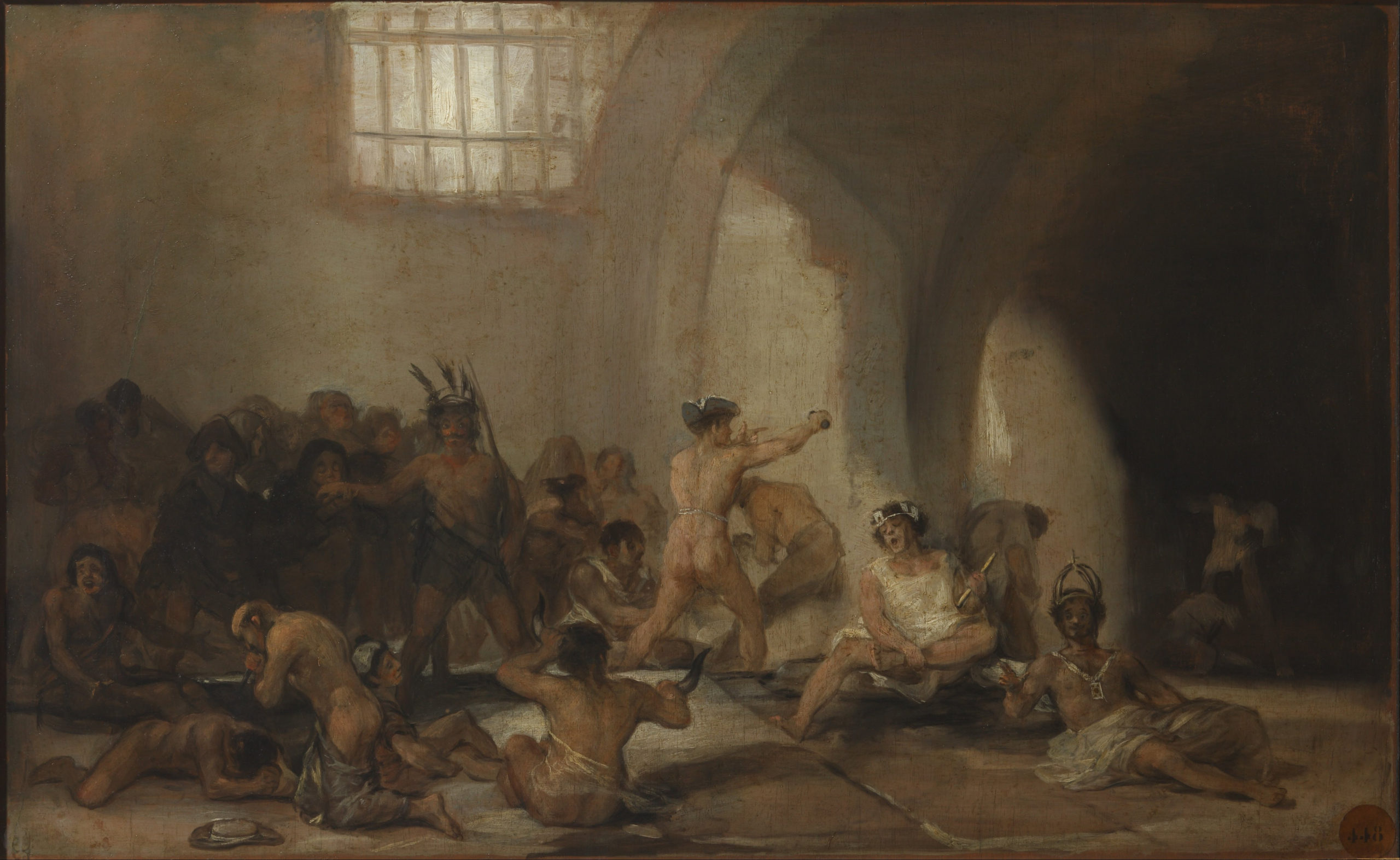 Francisco de Goya's The Madhouse which shows confinement in an asylum 1816-1819